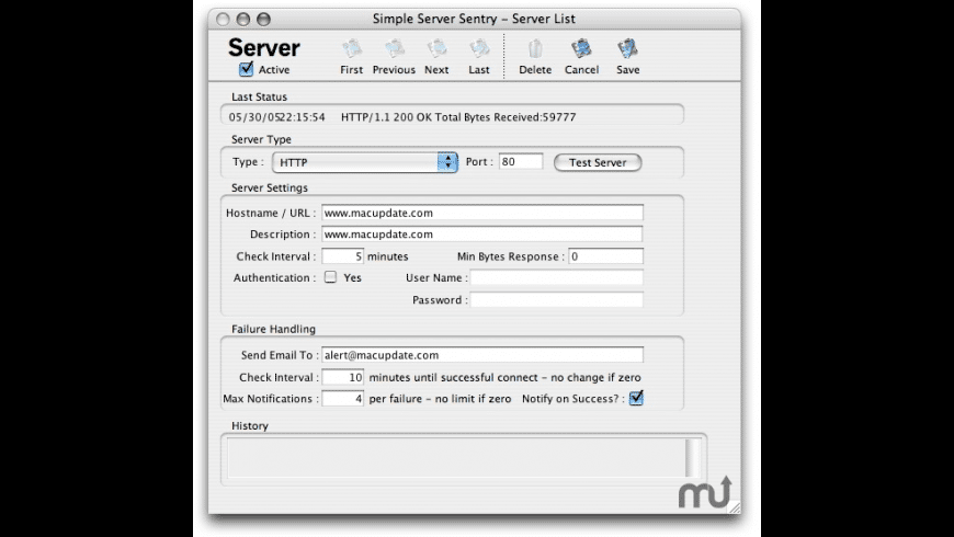 Simple Server Sentry for Mac - review, screenshots