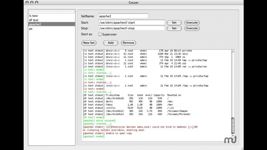 Cocser for Mac - review, screenshots
