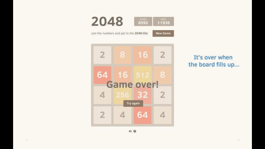 2048+ for Mac - review, screenshots
