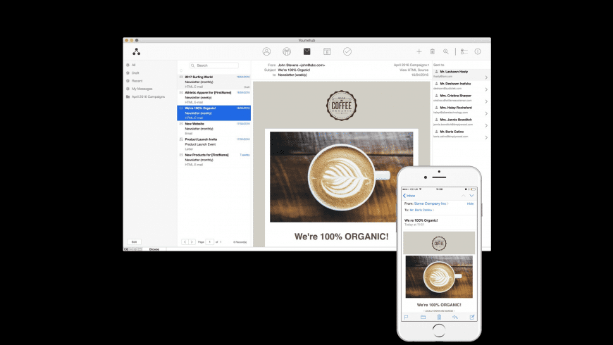 Youmehub for Mac - review, screenshots