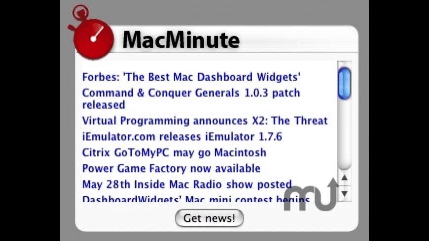 MacMinute Widget for Mac - review, screenshots