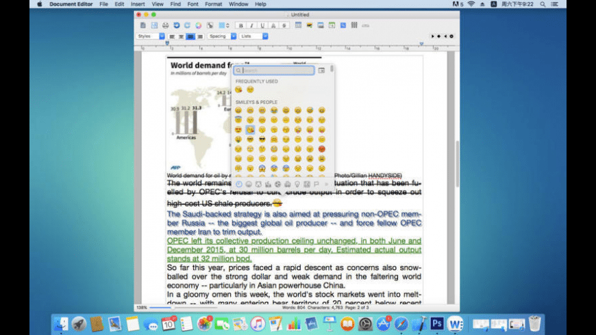 Document Editor for Mac - review, screenshots