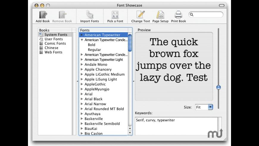 Font Showcase for Mac - review, screenshots