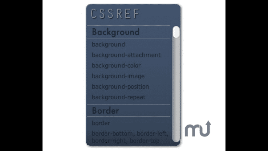 CSSREF for Mac - review, screenshots
