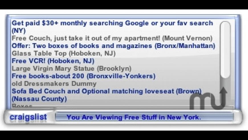 Craigslist Widget for Mac - review, screenshots