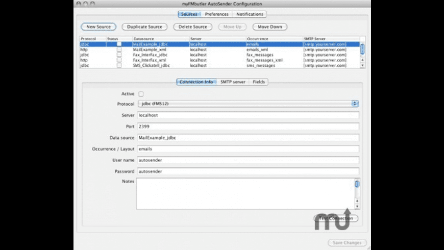 myFMbutler AutoSender for Mac - review, screenshots