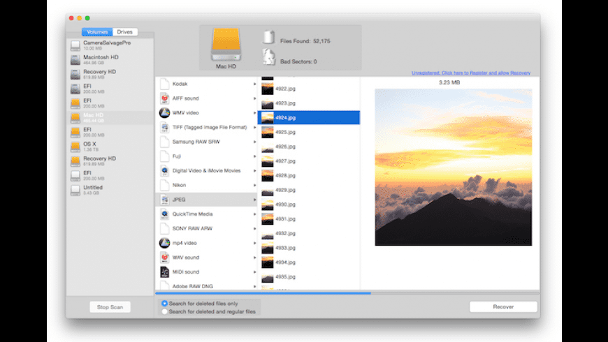 Camera Salvage Pro for Mac - review, screenshots