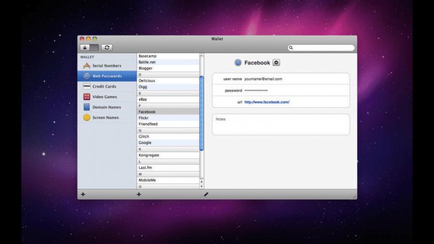 Wallet for Mac - review, screenshots