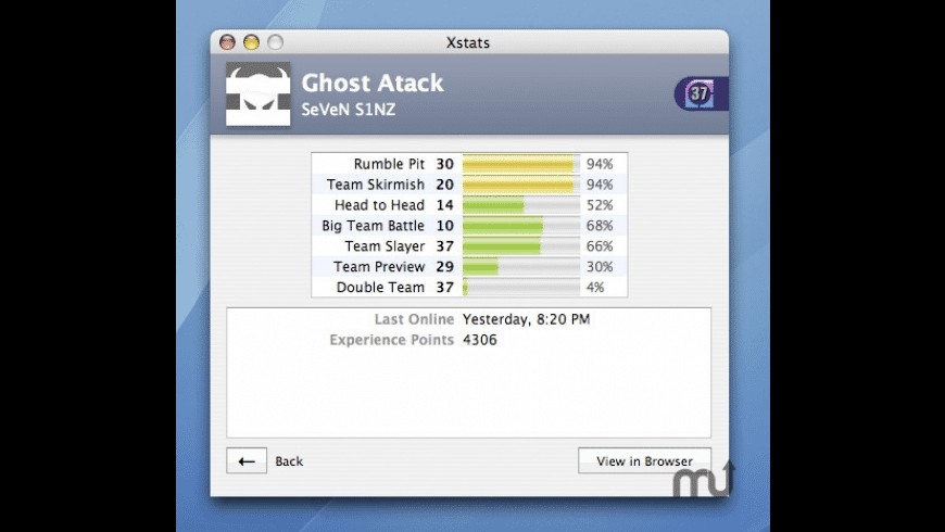 Xstats for Mac - review, screenshots