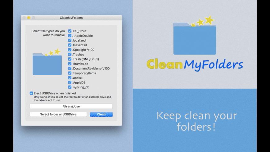 CleanFolders for Mac - review, screenshots