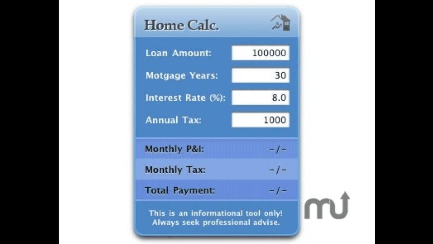 HomeCalc for Mac - review, screenshots