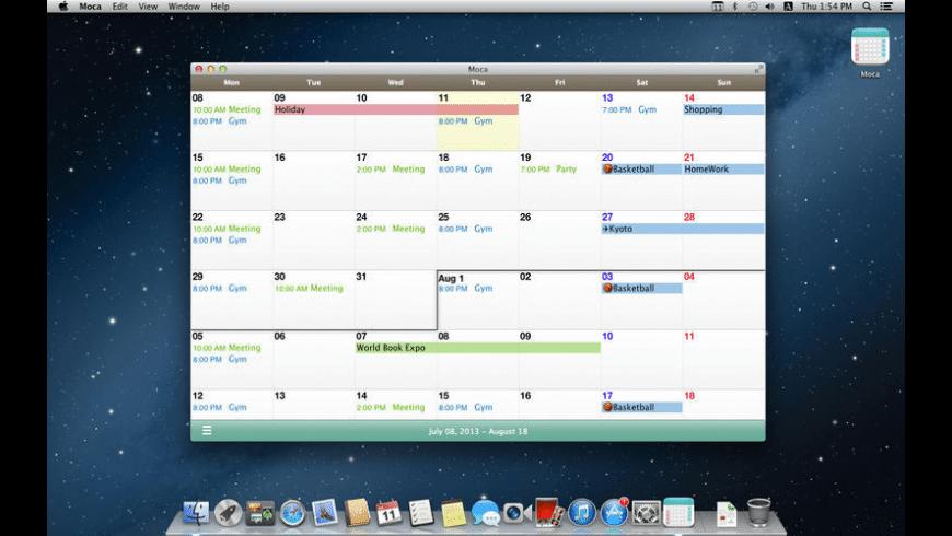 Moca for Mac - review, screenshots