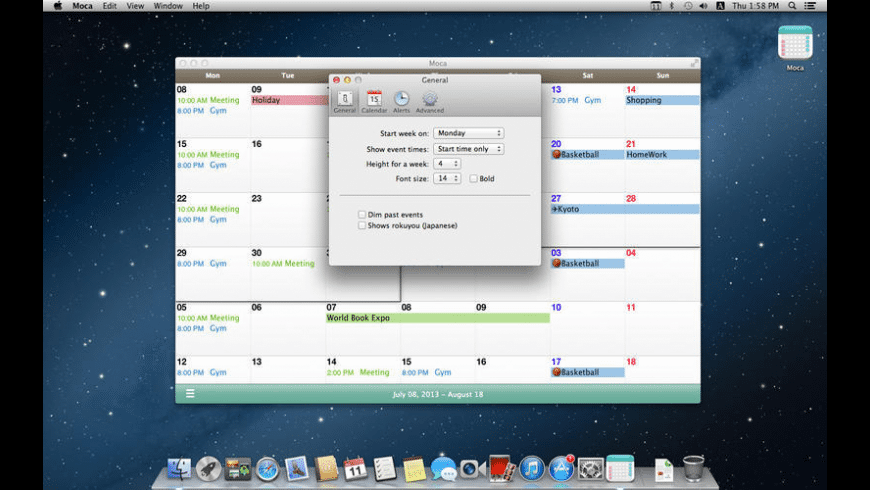 Moca for Mac - review, screenshots
