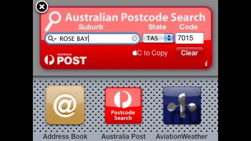 Australia Post Widget for Mac - review, screenshots