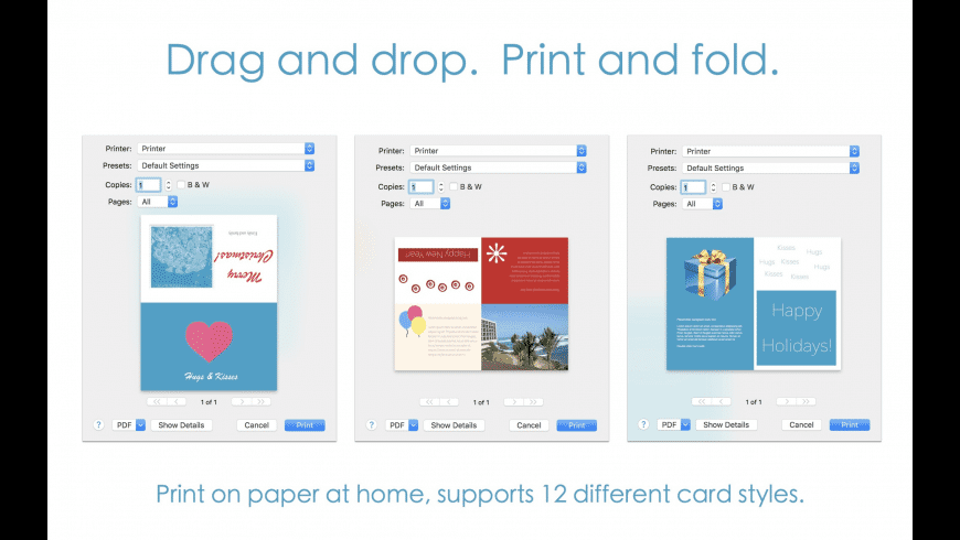 Orion Greeting Card Designer for Mac - review, screenshots