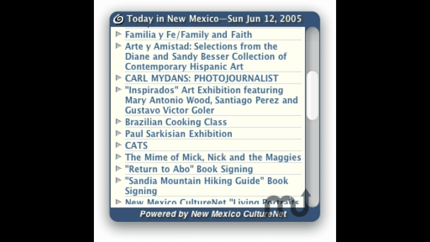 Today in NM for Mac - review, screenshots