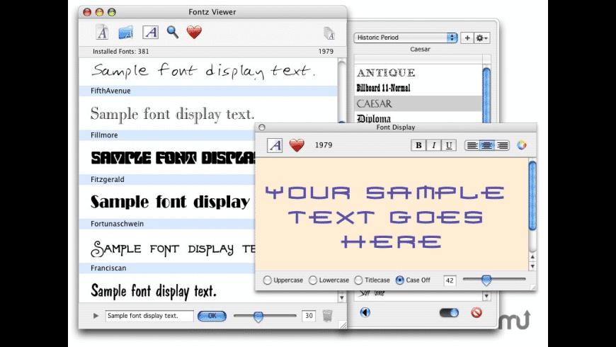 The Fontz X for Mac - review, screenshots