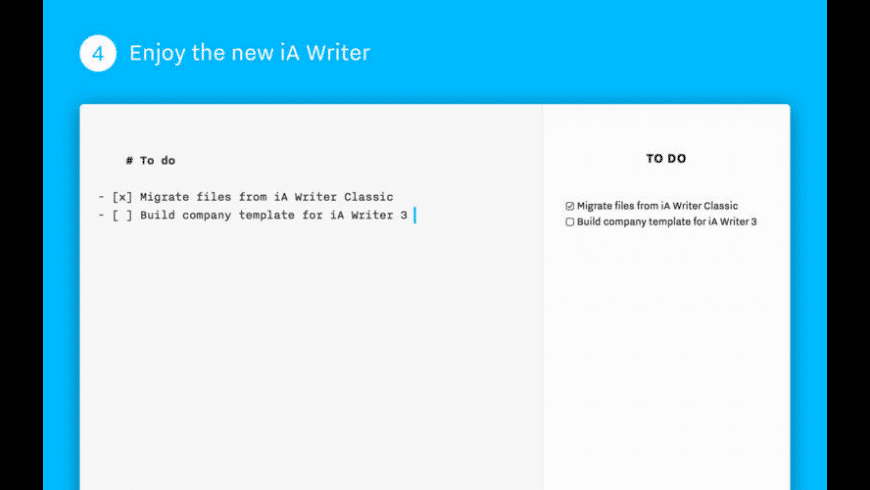 iA Writer Classic for Mac - review, screenshots