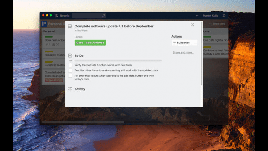 Trelify for Mac - review, screenshots