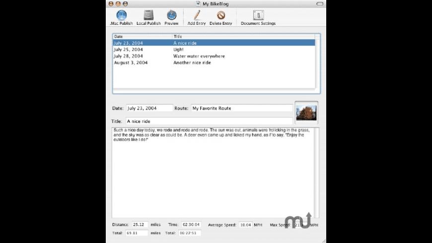 BikeBlog for Mac - review, screenshots