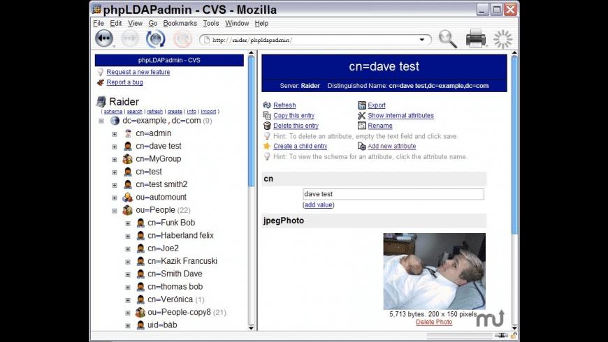 phpLDAPadmin for Mac - review, screenshots