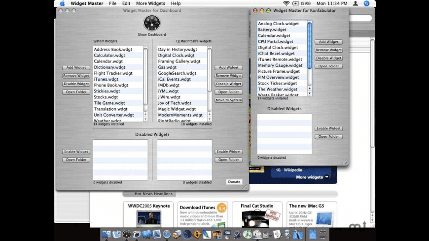 Widget Master for Mac - review, screenshots