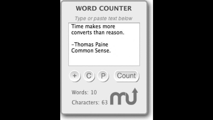 Word Counter Widget for Mac - review, screenshots
