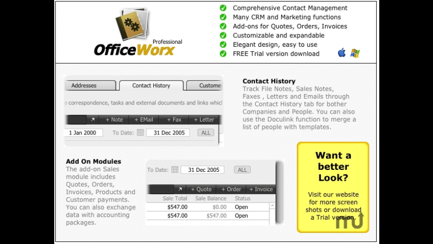 OfficeWorx Professional for Mac - review, screenshots