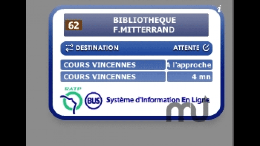 Bus RATP Widget for Mac - review, screenshots