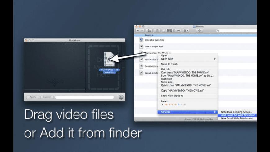MovieIcon for Mac - review, screenshots