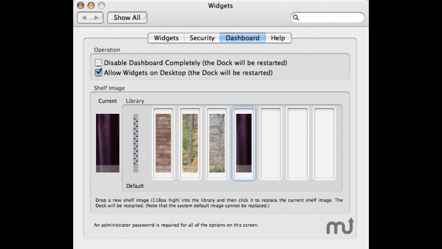 Widgets Preference Pane for Mac - review, screenshots