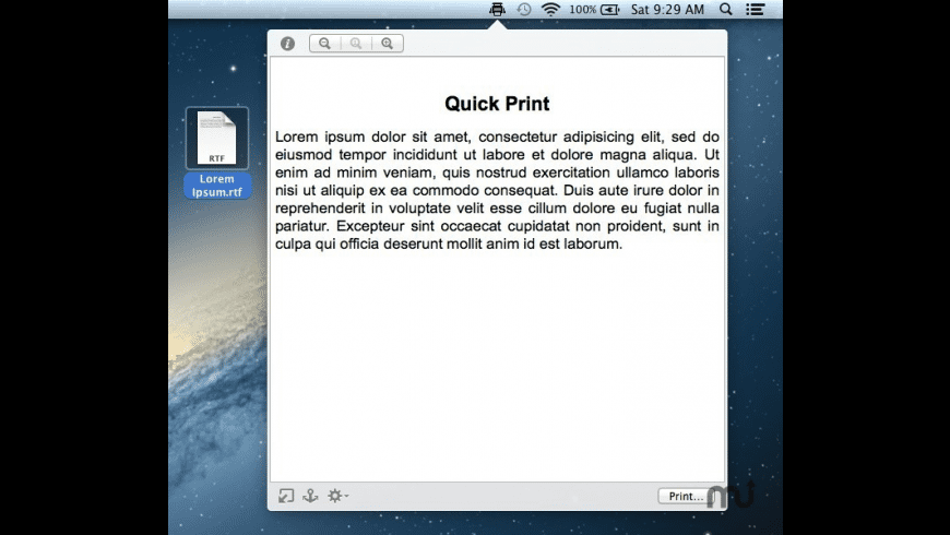 Quick Print for Mac - review, screenshots