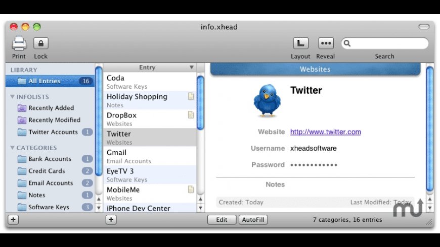 info.xhead for Mac - review, screenshots
