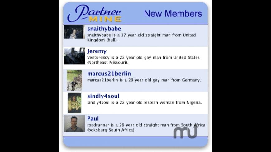 partnermine.com Widget for Mac - review, screenshots