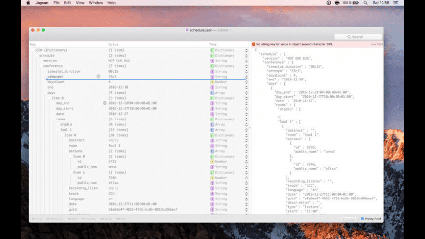 Jayson for Mac - review, screenshots