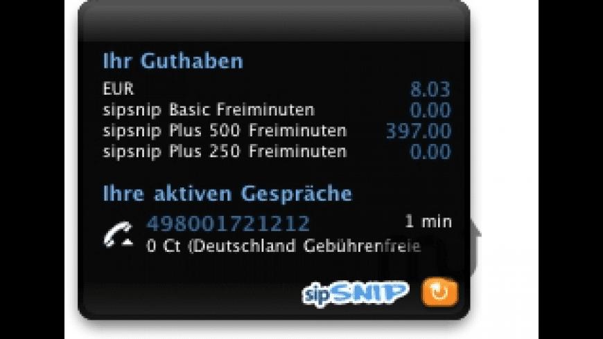 sipsnip myAccount for Mac - review, screenshots