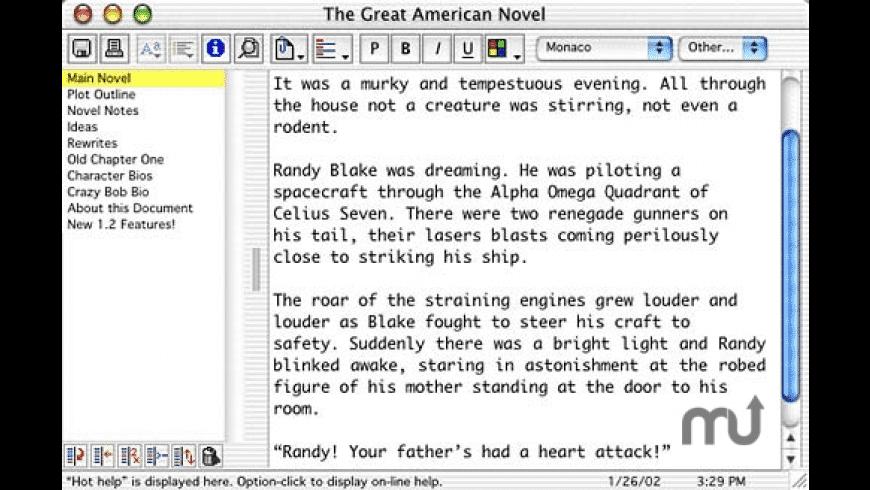Z-Write for Mac - review, screenshots