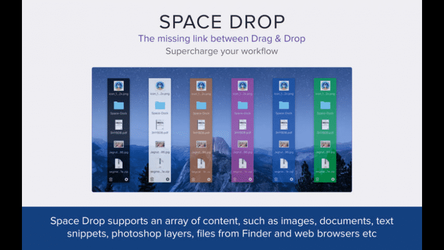 Space Drop for Mac - review, screenshots