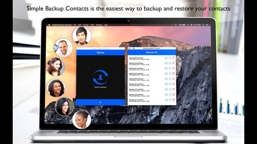 Simple Backup Contacts for Mac - review, screenshots