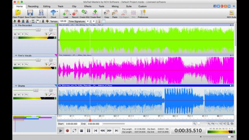 MixPad for Mac - review, screenshots