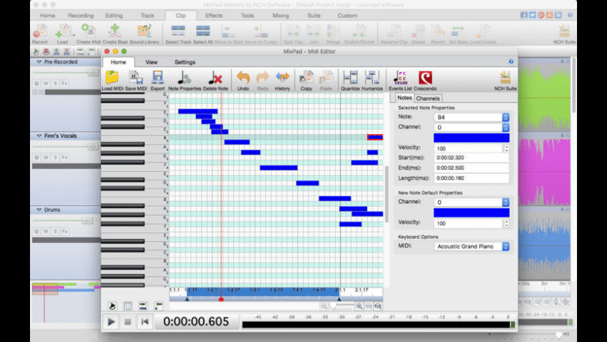 MixPad for Mac - review, screenshots
