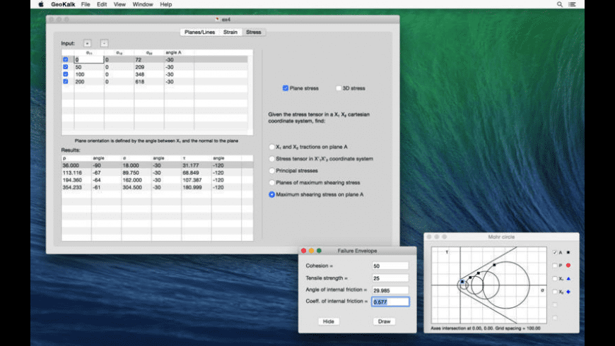 GeoKalk for Mac - review, screenshots