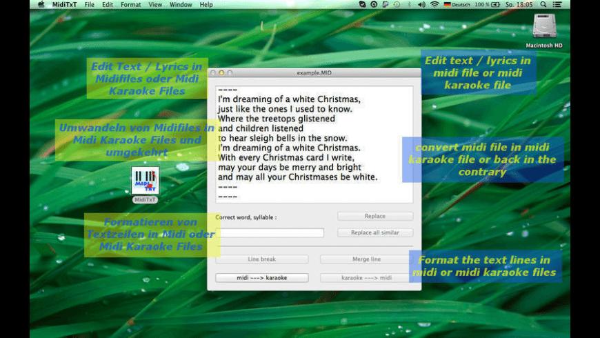 MidiTxt for Mac - review, screenshots