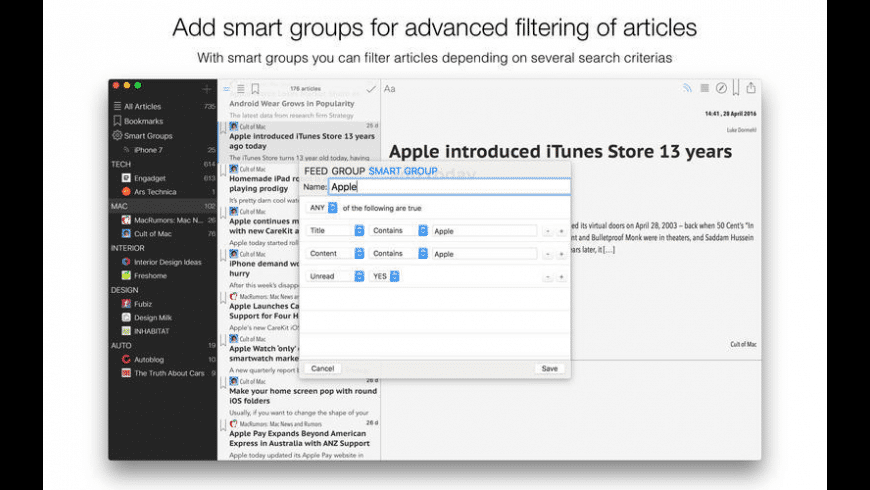 Aktuell for Mac - review, screenshots