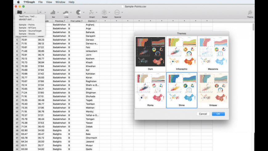 TYGraph for Mac - review, screenshots