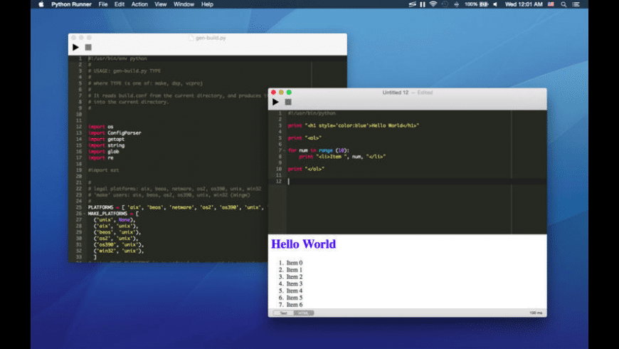 Python Runner for Mac - review, screenshots