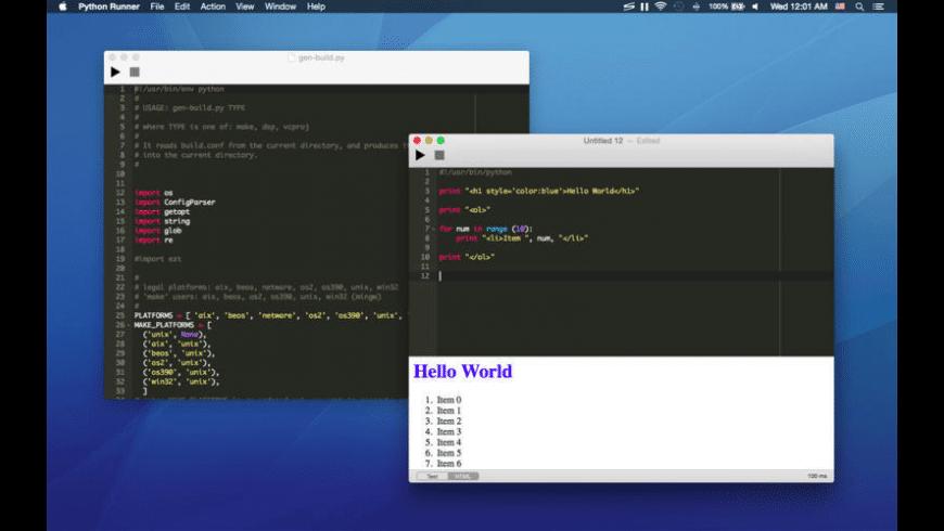Python Runner for Mac - review, screenshots