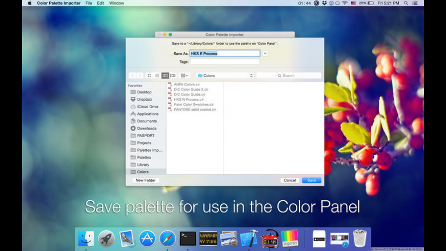 Color Palette Converter for Mac - review, screenshots