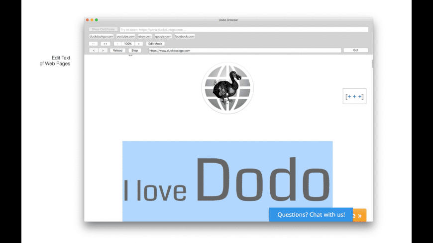 Dodo for Mac - review, screenshots