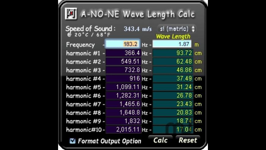 Wave Length Calc for Mac - review, screenshots